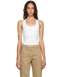 Lemaire Off-white Velvet Jersey Sleeveless Bodysuit