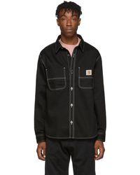 Carhartt WIP ブラック Chalk シャツ ジャケット