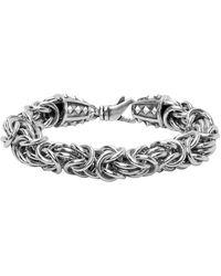 Emanuele Bicocchi Silver Byzantine Chain Bracelet - Metallic