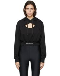 Versace Jeans Couture - ブラック Cut-out フーディ - Lyst
