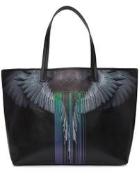 Marcelo Burlon Large Shopper Bag - Black