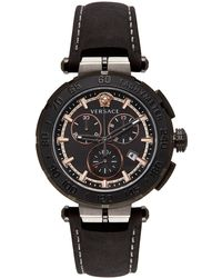 Versace ブラック Greca Chrono 腕時計