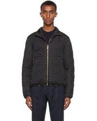 Versace ブラック Greca キルティング ジャケット