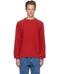 A.P.C. - Red Marvin Crewneck Sweater - Lyst
