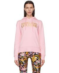 Versace Jeans Couture - ピンク ロゴ フーディ - Lyst