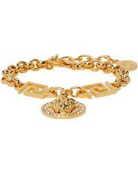 Versace Bracelet doré Icon Medusa - Métallisé