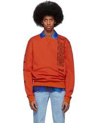 Lanvin オレンジ ロゴ スウェットシャツ