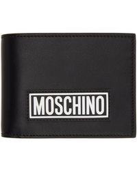 Moschino ブラック ロゴ バイフォールド ウォレット