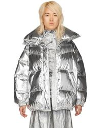 MM6 by Maison Martin Margiela - Silver Limited Edition Puffer Down Jacket - Lyst