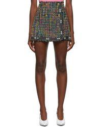 Versace Jeans Couture - マルチカラー ツイード プリーツ ミニスカート - Lyst