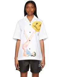 Palm Angels - Smiley Edition ホワイト Juggler Pin Up ショート スリーブ シャツ - Lyst