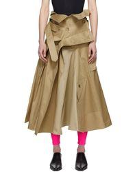 Junya Watanabe - ベージュ トレンチ コート スカート - Lyst