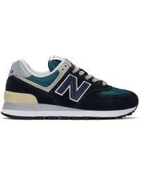 New Balance ネイビー 574 スニーカー - ブルー