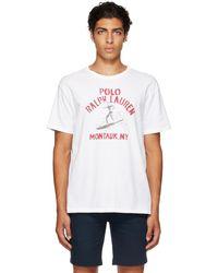 Polo Ralph Lauren ホワイト ロゴ グラフィック T シャツ