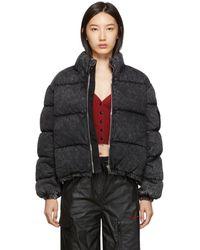 Alexander Wang Grey Denim Puffer Jacket