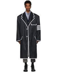 Thom Browne 4-bar Oversized Ripstop Chesterfield - Blue