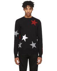 Givenchy - Black Intarsia Stars Jumper - Lyst