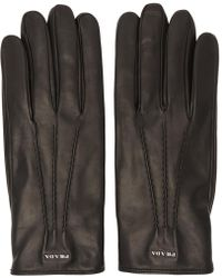 Prada - All Designer Products - Black Lambskin Gloves - Lyst