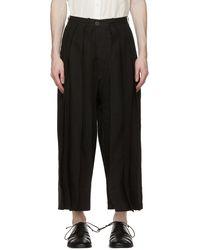 Jan Jan Van Essche Pantalon ample noir en lin