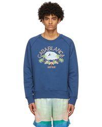 CASABLANCA ネイビー Surf Club スウェットシャツ - ブルー