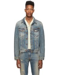 Nudie Jeans インディゴ デニム Billy Shimmering ジャケット - ブルー