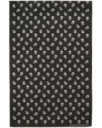 Alexander McQueen - Black And White All Over Skull Scarf - Lyst