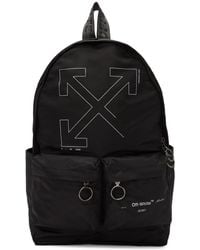 Off-White c/o Virgil Abloh Black Unfinished Backpack - Metallic