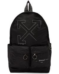 Off-White c/o Virgil Abloh - Black Unfinished Backpack - Lyst