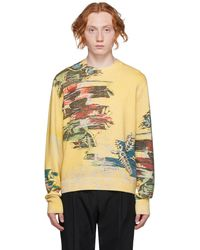 Dunhill Pull Abstract Florals jaune
