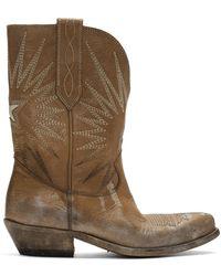 Golden Goose Deluxe Brand Beige Wish Star Low Boots - Natural