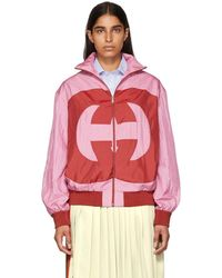 Gucci - Pink Gg Logo Track Jacket - Lyst