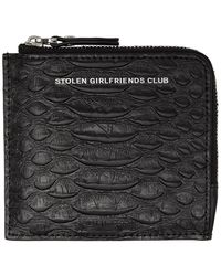 Stolen Girlfriends Club Black Zip Around Wallet