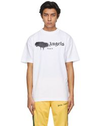Palm Angels ホワイト Paris ロゴ T シャツ