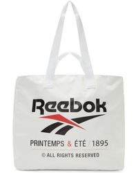Reebok - White Classic Printemps And Ete Tote - Lyst