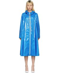 CALVIN KLEIN 205W39NYC - Blue Drawstring Tent Coat - Lyst