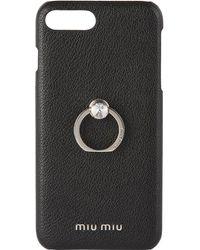 Miu Miu Black Madras Crystal Ring Iphone 7 Plus/8 Plus Case