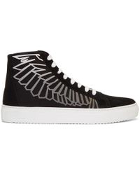 Marcelo Burlon - Black And Grey Coralie Wings High-top Trainers - Lyst