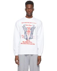 Aries White 'it's Time' Dokkoi Long Sleeve T-shirt