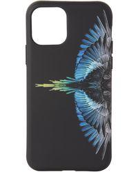 Marcelo Burlon ブラック & ブルー Wings Iphone 11 Pro ケース
