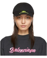 Balenciaga - Black And Yellow New Logo Cap - Lyst