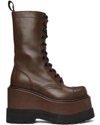 R13 Brown Medium Platform Boots
