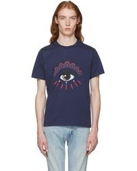 KENZO - Navy Bleached Eye T-shirt - Lyst