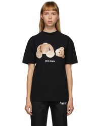 Palm Angels ブラック Bear T シャツ