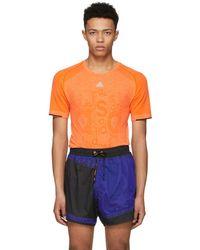 adidas Originals - Orange Primeknit T-shirt - Lyst