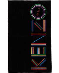 KENZO Iphone Logo Beach Towel - Black