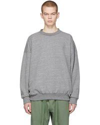 Fear Of God Gray Sixth Collection Logo Sweatshirt