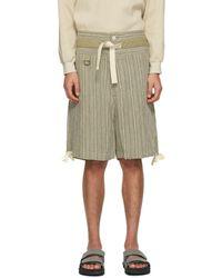 Nicholas Daley Khaki Pullcord Shorts - Natural
