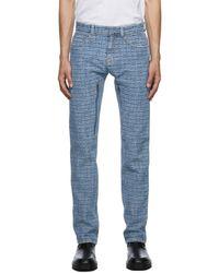 Givenchy ブルー 4g ジャカード レギュラー フィット ジーンズ