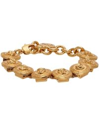 Versace Bracelet doré Medusa Medallion - Métallisé