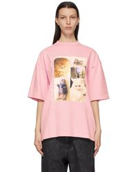 Balenciaga - I Love Pets コレクション ピンク I Love Cats T シャツ - Lyst